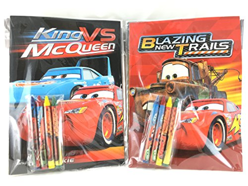 Cars Party Favors Disney Coloring Book & Crayon Set 12 Pack ( Assorted Style)
