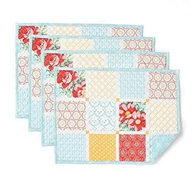 The Pioneer Woman Diamond Patchwork Placemat, Pack of 4, 14 in X 19 in
