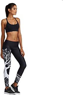 a0a91f0954253 JJ-GOGO Womens Digital Print Designs Active Workout Stretch Black Tree  Leggings