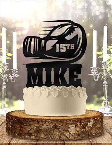 Guante de boxeo personalizado con nombre y edad para tarta de cumpleaños