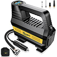 iSyan YFR-8201 DC 12V 150PSI Portable Air Compressor Tire Inflator with Digital Pressure Gauge & LED Light for Car, Bicycle, Trucks, Ball and Other Inflatables