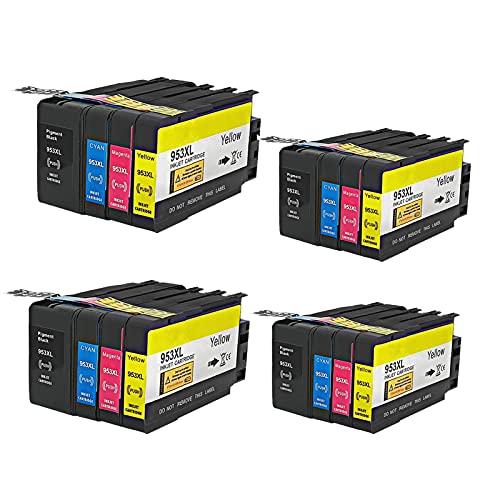 RICR Cartuchos De Tinta Remanufacturados para El Reemplazo De para HP953 XL, Compatible para HP OfficeJet Pro 7720 7730 7740 8210 8218 8710 8715 8718 8720 8725 Impresora 4set
