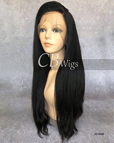 Cbwigs brésilien Remy Yaki 360 Dentelle frontale Perruque non traités naturels Cheveux humains lumière Yaki 360 Dentelle des Perruques Couleur naturelle
