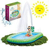 Splashin'kids 3 in 1 Inflatable Sprinkler Pool for Kids, Baby Pool, Kiddie Pool, Toddlers Wading Swimming Water Outdoor Toys Babies 1,2,3,4,5,6 Year Old Boys Girls Small (Small and Large Size)