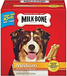 Milk-Bone Original Dog Biscuits - for Medium-Sized Dogs, 2 BOXES OF 10-Pound EACH by Milk-Bone