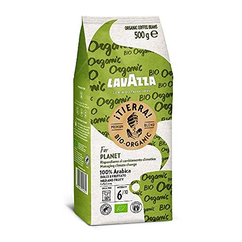 Lavazza ¡Tierra! Bio Organic, 100% Arabica Medium Roast Beans, Pack of 500g