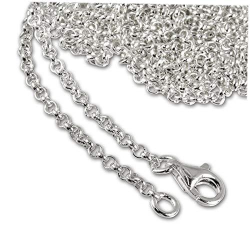 Collar SilberDream de plata de ley 925, cadena de 90cm de largo para colgante, FC00289-1