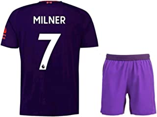 ZXAOYUAN Milner #7 Men's Away Soccer Jersey & Short Kit Purple
