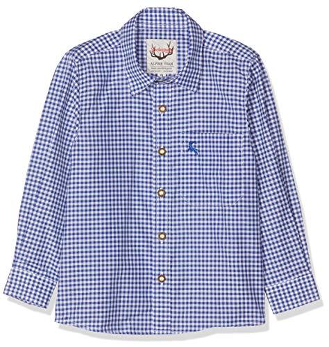 Stockerpoint Jungen Hemd Dave Jr. Trachtenhemd, Blau (Blau Blau), 122-128