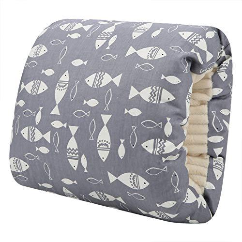 Almohada de lactancia para bebé, almohada de lactancia suave para viajar para amamantar para uso al aire libre para alimentar con biberón(Small grey fish)