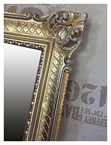 Lnxp WANDSPIEGEL BAROCKSPIEGEL Spiegel IN Gold Silber DUALCOLOR 90x70 cm ANTIK BAROCK Rokoko Shabby...