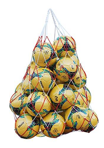 Qchomee Ballnetz 2 Stück Netztasche Handgewebte Balltasche Nylon Fußball-Netztasche Tragbare Volleyball-Netztasche Sport Ball Carrier für Basketball Einkaufen Aufbewahrung Obst Gemüse Spielzeug