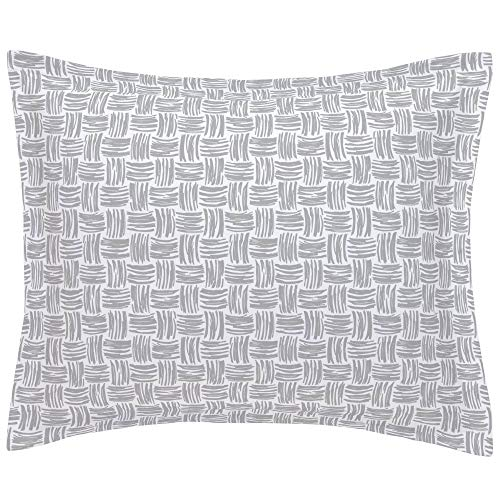 Why Choose Carousel Designs Silver Gray Basket Weave Pillow Sham Standard Size