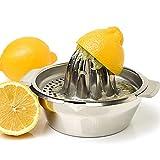 Vanleonet Stainless Steel Citrus Lemon Orange Juicer Manual Hand Squeezer, Juicer Hand Press Manual Juicer Fruit Lemon Lime Orange Squeezer with Bowl Juicer Strainer