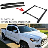 Outdoordeal Roof Rack Side Rails Bars for 2005-2015 Toyota Tacoma Double Cab Luggage Carrier OE Style