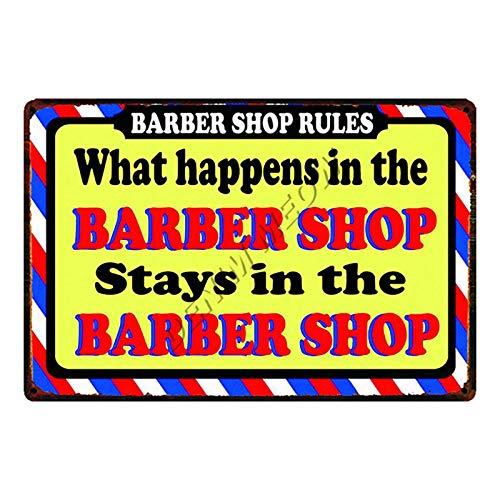 WE Tacheté Rouille Grotte Vintage UK Rasages Et Coupes De Cheveux Salon De Coiffure en Métal Signe Vintage Hommes Coiffure Tatouages Plaques Classique Fer Peinture Bar Décoration 20x30 cm 16