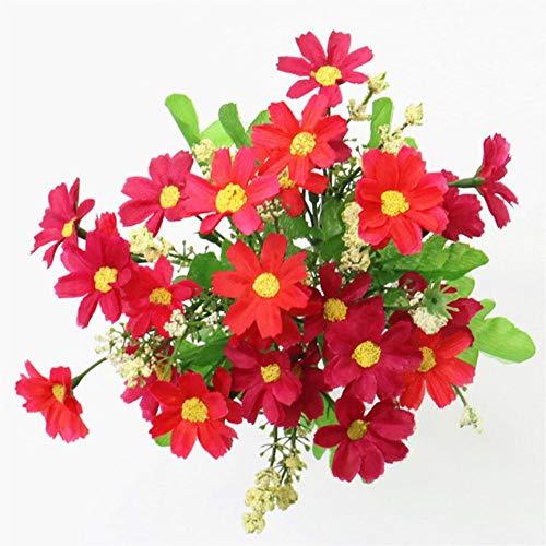 Een boeket 7 tak 28 hoofden schattige zijden daisy kunstmatige decoratieve bloem bruiloft bloemboeket thuis kamer tafeldecoratie, G1