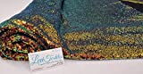 Levi Textiles, INC. 3 Feet 1 Yards Iridescent Sequin Fabric, by The Yard, Sequin Fabric, Tablecloth, Linen, Sequin Tablecloth, Table Runner Photo Booth Backdrop (Iridescent Rainbow)