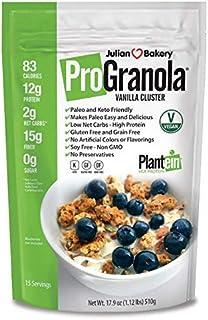 Julian Bakery ProGranola Cereal | Vegan | Vanilla Cluster | 12g Protein | 2 Net Carbs | Gluten-Free | Grain-Free | 15 Servings