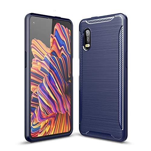 FanTing Hülle für Samsung Galaxy Xcover Pro, Soft TPU Superdünn Weich Silikon Schutzhülle, Hüllen für Samsung Galaxy Xcover Pro -Dunkel blau