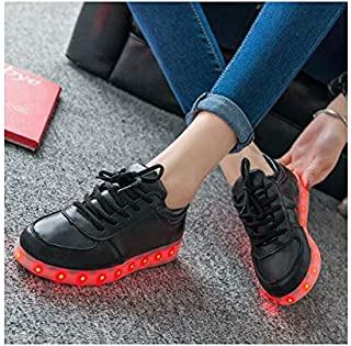 7 Colors Fashion LED Sneakers USB Charging Lights shoe