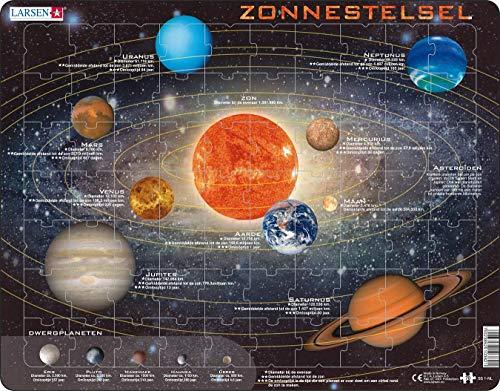 Larsen SS1 Sistema Solar, edición en Holandés, Puzzle de Marco con 70 Piezas