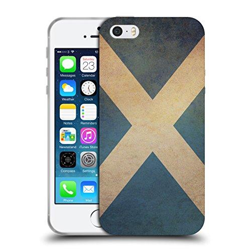 Head Case Designs Scozia Scozzese Bandiere Vintage Set 2 Cover in Morbido Gel e Sfondo di Design Abbinato Compatibile con Apple iPhone 5 / iPhone 5s / iPhone SE 2016