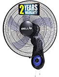 iBELL BLADE WF1980 Premium Wall Fan with 5 Leaf, Low Noise Motor,High Speed - Black