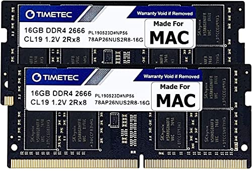 Timetec Hynix IC 32GB KIT(2x16GB) Compatible for Apple DDR4 2666MHz for Mid 2020 iMac (20,1/20,2) / Mid 2019 iMac (19,1) 27-inch w/Retina 5K Display, Late 2018 Mac Mini (8,1) PC4-21300/PC4-21333 RAM