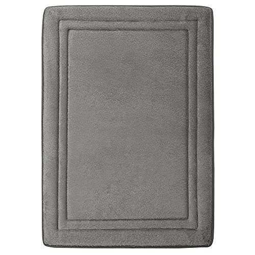 MICRODRY Quick Drying Memory Foam Framed Bath Mat with GripTex...