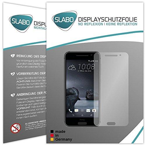 4 x Slabo Bildschirmschutzfolie für HTC One A9 Bildschirmfolie Schutzfolie Folie Zubehör (verkleinerte Folien, aufgr& der Wölbung des Bildschirms)