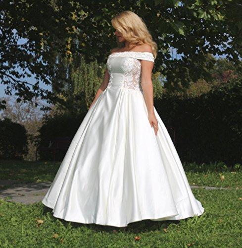 Luxus Brautkleid Hochzeitskleid Weiß nach Maß - 9