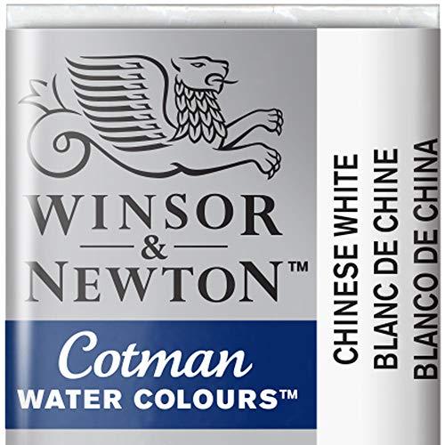 Winsor & Newton 301696 Cotman Colori Acquerello, Viridian, Bianco (Chinesischweiß), 1.9x1.6x1.1 cm