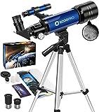 télescope pour Enfants débutants Astronomie Adultes Adolescent Portable 70mm Lunette astronomique pour Enfants Adolescents...