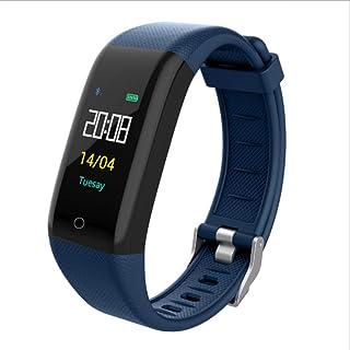 burninghot T10 Pulsera inteligente Fitness Tracker Monitor de ritmo cardíaco sueño Ip68 impermeable paso a paso Multi modo Sport Ring azul