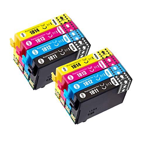 Reemplazo de cartucho de tinta compatible con 18XL para EPSON 18XL T1811-4 para XP-30 102 202 205 302 305 402 405 405WH 212 215 312