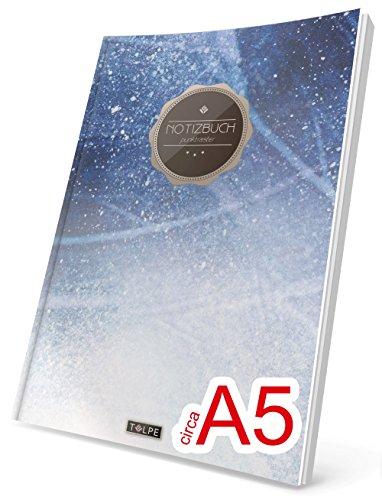 """TULPE Punktraster Notizbuch: Ca. A5 """"C145 Eiskalt"""" (Vintage Softcover, Register, Punktpapier - Bullet Journal, Kalligraphie Übungsheft, Skizzenbuch, Gepunktete Seiten, Dotted Grid Journal)"""