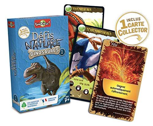 Bioviva 0101012114–Gioco di Carte–Sfide Natura–Dinosauri 1