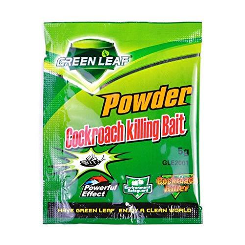 HUYURI 50pcs Effective Powder Cockroach Killing Bait Roach Killer Pesticide...