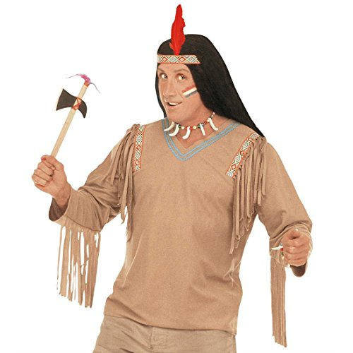 NET TOYS Indien Tomahawk Arme d'indien Accessoire 2 pièces Accessoires d'indien Accessoire déguisement Indiens Arme Costume