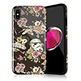 Floral Star Wars Protective Case for iPhone Xs Max, Lightweight Flexible TPU Raised Edges Scratch Resistant Glossy Rubber Silicone Phone Cover for iPhone Xs Max