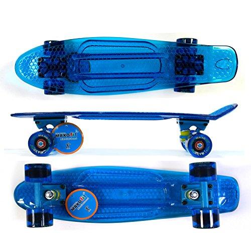 MAXOfit® Mini Skateboard Retro Cruiser 55 cm (22 Zoll) Komplettboard