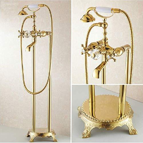 Duschsystem Badewannenarmaturen Bad Gold Standarmaturen Telefontyp Badewanne Brausebatterie Messing Brausegarnitur Badewannenarmatur
