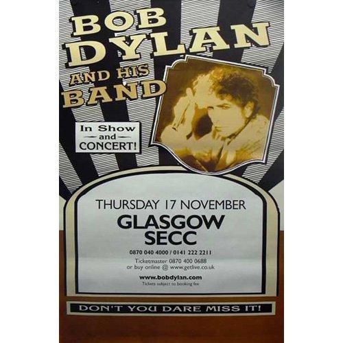 Bob Dylan - Géanteposter Glasgow SECC