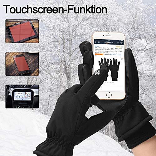 Yobenki Warm Winterhandschuhe Fahrradhandschuhe wasserdichte Touchscreen Handschuhe Skihandschuhe rutschfest Sporthandschuhe Unisex für Snowboarden, Motorrad - 3