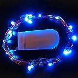 LED Lichterkette Batteriebetrieben Kupfer Drahtlichterkette Dapei 3M 30er LED Lichterketten Weihnachten wasserdichte Flaschenlicht Innen und Außen Deko, Blau