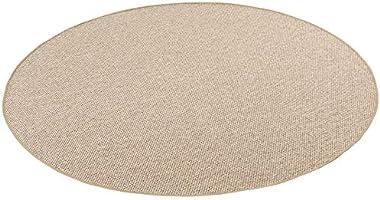 Bentzon - Tapis tissé à plat - Marron - rond - 4 tailles