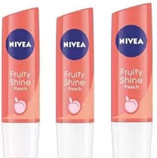 Nivea peach lip balm peach(Pack of: 3, 14.4 g)