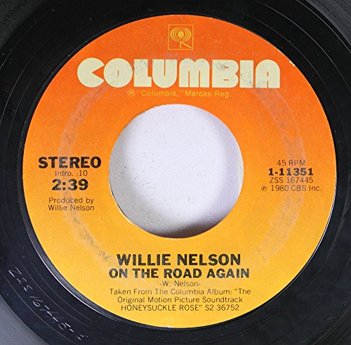 Willie Nelson 45 RPM On The Road Again / Jumpin' Cotton Eyed Joe