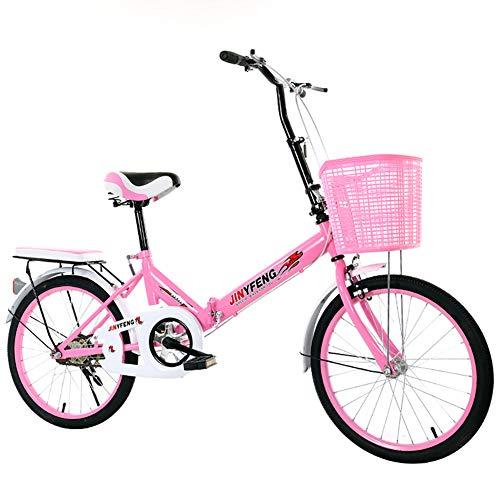 GDZFY Ultraleicht Vollfederung Faltfahrrad,Erwachsene Fahrrad Mit Aufbewahrungskorb Rear Carry Rack,20in Citybike Städtische Umwelt A 20in